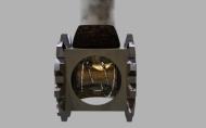 Early motorcart engine
